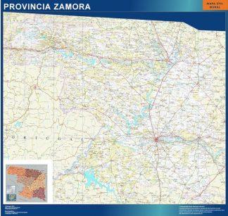 Carte province Zamora affiche murale