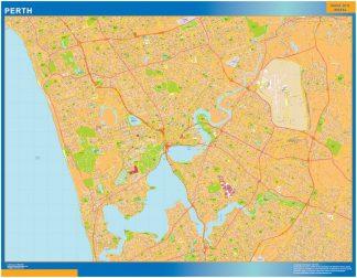 Mapa Perth Australie affiche murale