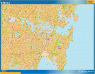 Mapa Sydney Australie affiche murale