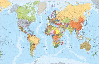 Carte du monde en anglais