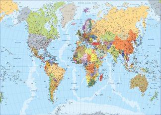 Carte du monde en espagnol